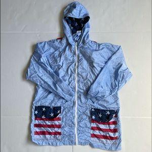 Patriotic Light Weight Rain Women's Jacket